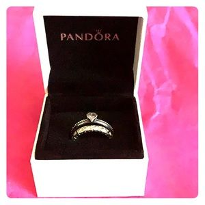 Two Pandora Rings size 7